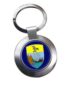 Saint Helena Metal Key Ring