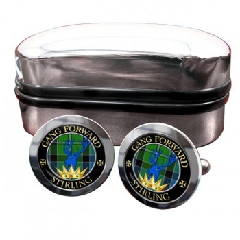 Stirling Scottish Clan Round Cufflinks