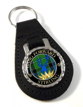 Stirling Scottish Clan Leather Key Fob