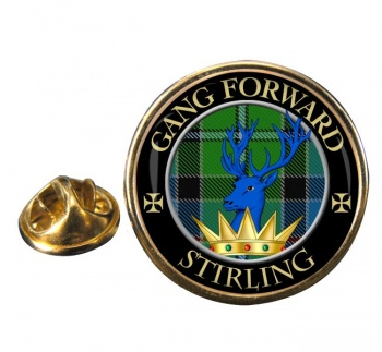 Stirling Scottish Clan Round Pin Badge