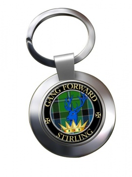 Stirling Scottish Clan Chrome Key Ring