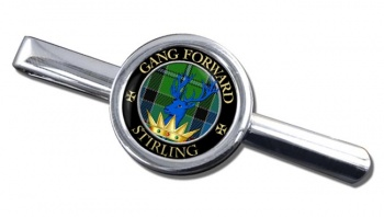 Stirling Scottish Clan Round Tie Clip