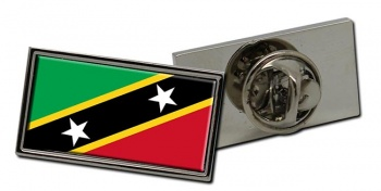 Saint Kitts and Nevis Flag Pin Badge