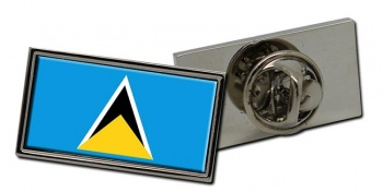 Saint Lucia Flag Pin Badge