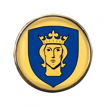 Stockholm (Sweden) Round Pin Badge
