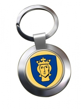 Stockholm (Sweden) Metal Key Ring