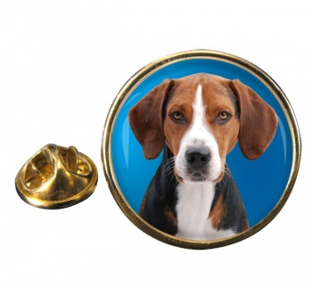 Hamilton Hound Round Pin Badge
