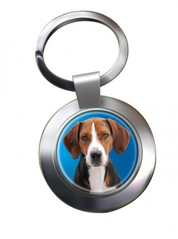 Hamilton Hound Metal Key Ring