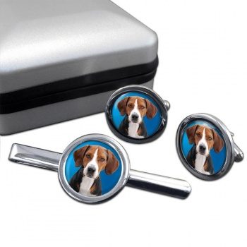 Hamilton Hound Cufflink and Tie Clip Set