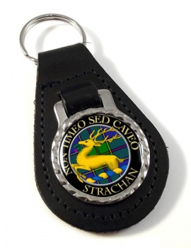 Strachan Scottish Clan Leather Key Fob