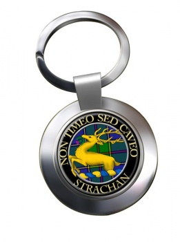 Strachan Scottish Clan Chrome Key Ring