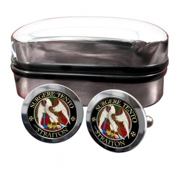 Straiton Scottish Clan Round Cufflinks