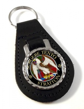 Straiton Scottish Clan Leather Key Fob