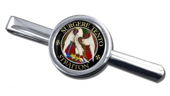 Straiton Scottish Clan Round Tie Clip