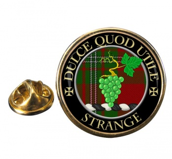 Strange Scottish Clan Round Pin Badge