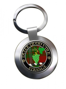 Strange Scottish Clan Chrome Key Ring