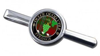 Strange Scottish Clan Round Tie Clip