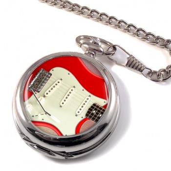 Stratocaster Guitar Pocket Watch
