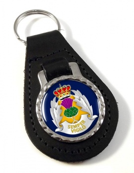 Strethclyde Police Leather Key Fob