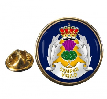 Strethclyde Police Round Pin Badge