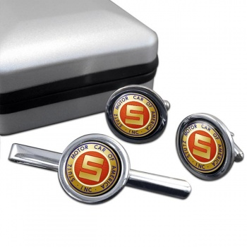 Stutz Cufflink and Tie Clip Set