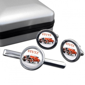 Stutz Convertable Cufflink and Tie Clip Set