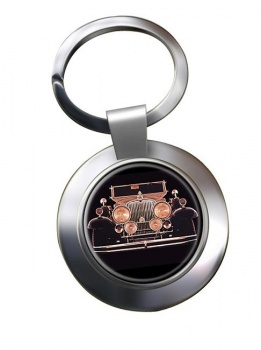 Stutz Vertical Eight SV-16  Chrome Key Ring