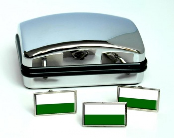 Styria Steiermark Austria Flag Cufflink and Tie Pin Set