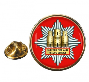 Suffolk Fire and Rescue Round Pin Badge