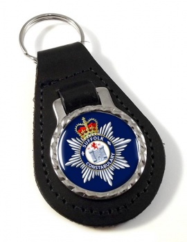 Suffolk Constabulary Leather Key Fob