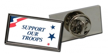 Support Our Troops Rectangle Tie Pin
