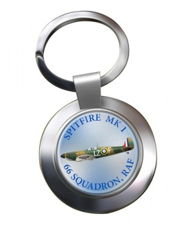 Spitfire Chrome Key Ring