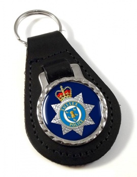 Sussex Police Leather Key Fob