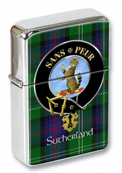 Sutherland Scottish Clan Flip Top Lighter
