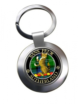 Sutherland Scottish Clan Chrome Key Ring