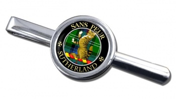 Sutherland Scottish Clan Round Tie Clip