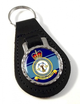 RAF Station Swanton Morley Leather Key Fob