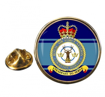RAF Station Swanton Morley Round Pin Badge