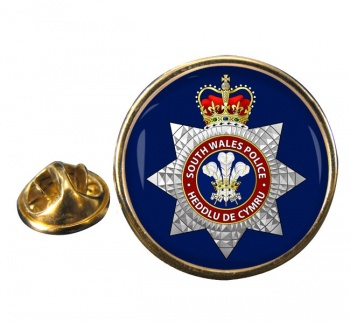 South Wales Police Round Pin Badge