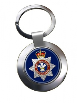 South Wales Police Chrome Key Ring