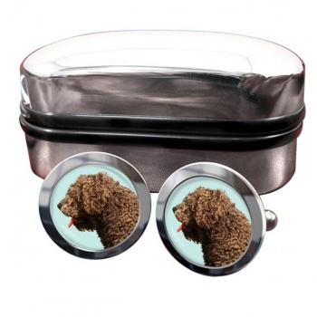 Spanish Water Dog  Round Cufflinks