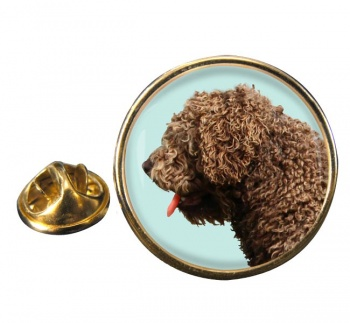 Spanish Water Dog Round Pin Badge