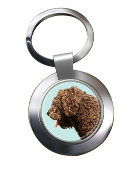 Spanish Water Dog Metal Key Ring