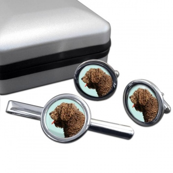 Spanish Water Dog  Cufflink and Tie Clip Set