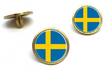 Sweden Sverige Golf Ball Marker