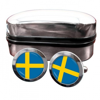 Sweden Sverige Flag Cufflinks