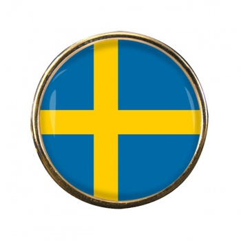 Sweden Sverige Round Pin Badge