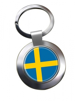 Sweden Sverige Metal Key Ring