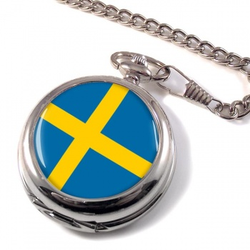 Sweden Sverige Pocket Watch