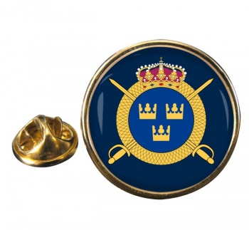 Livregementets husarer (Swedish Hussars) Round Pin Badge